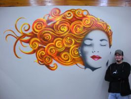 Mural with me next to it by PainlessJames