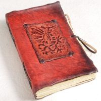 Red Dragon Leather Journal by gildbookbinders