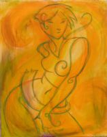 Dancing girl on yello by hippybro