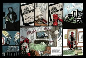 Hellboy in the hotel room pg04 by didism
