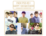 Pack PSD #51 - Kya Nguyen's [HAPPY 100 WATCHER] by khanhnguyen17