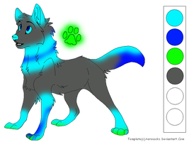 Glow Wolf Adopt Closed by DragonCartoons