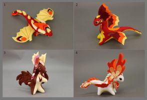 Plush dragons - Fire by hontor