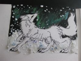 first ACEO WIP by Snow-Body