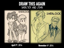 Draw This Again: Sherlock And John by Alexbee1236