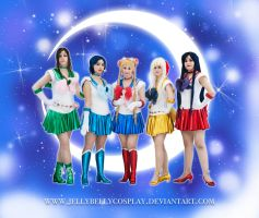 .:SAILOR SCOUTS:. by JellyBellyCosplay