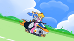 Peach and Aria Cloudtop Cruise by Flame-Eliwood