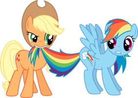 Applejack and Rainbow Dash by Skie-Vinyl