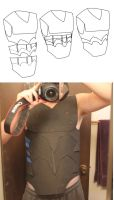 Nightingale armor blue print, and wip by Hito-san
