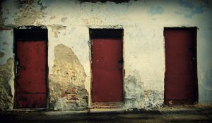 Three red doors by klopmaster