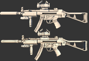 HK MP 5 | AO + Wire by GrimmWrecking