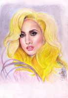 Lady Gaga Grammys 2010 by DanielKitty