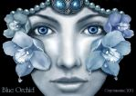 Blue orchid by crayonmaniac