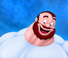 Bluto in blue by Blathering