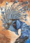 Nerdy Cute Crowned Pigeon by sobeyondthis