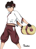 Tenten- Colored by VioletBirdxx
