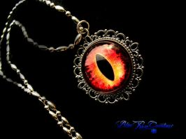 Lord of the Rings Inspired - Eye Pendant Silver by LadyPirotessa