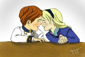 BOOP ! HAHAH * little hans and little Elsa* by Yayuijun