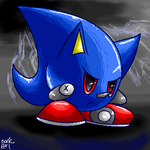 metal sonic- kirby style by sonicgirl06