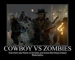 Cowboy vs Zombies by psyclonius