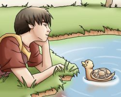 With A Turtleduck by LauraDoodles