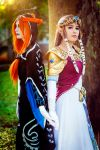 Zelda and Midna by laahmichelle