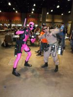 CTcon '12 - Pink Deadpool and Ghostbuster by TEi-Has-Pants