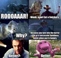 Snickers Meme - Jurassic Park by Dr-Anime