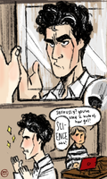 Sherlock and Hair Gel by IncenteFalconer