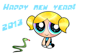 Happy new year from Bubbles by xXBloody-MagicXx