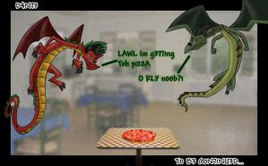 Pizza Battle 1 by Dante3o3
