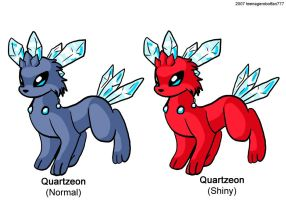 Fake pokemon: Quartzeon by teenagerobotfan777