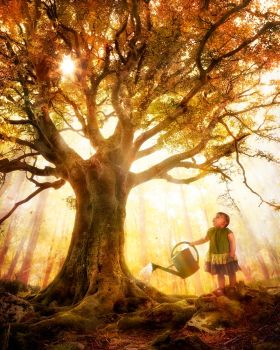 Growing up is made of small things by gyaban