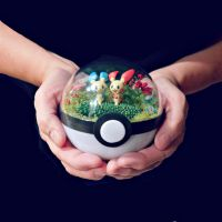 Poke Ball Terrarium - Plusle and Minun- Medium by TheVintageRealm