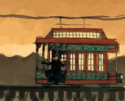 Trolley Time Evening by Zethelius