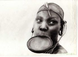 Mursi girl by liliana08