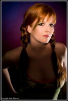 Pigtailed army girl by Trihesta