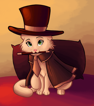 Day 9- Magician Cat by Ric-M