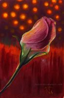 A rose with oil by Thubakabra