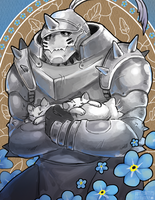 Alphonse Commission by Applewaffles