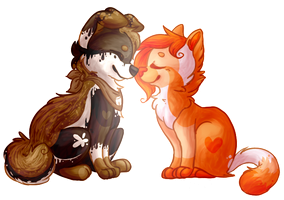AS: sherbert and smores by Kitzophrenic