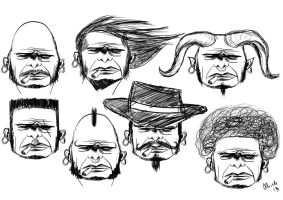 comic heads - concept #2 by alch3mist-design