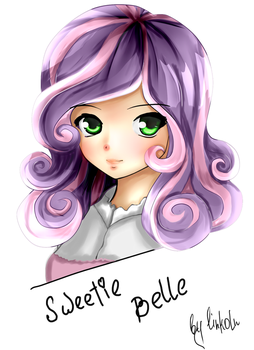 Sweetie belle (hum) by L1nkoln