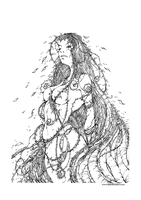 mother.nature_lineart by BenBASSO