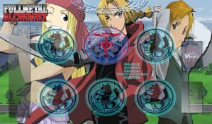 Fullmetal Alchemist Cardfight!! Vanguard Playmat by Kotaro117