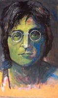 John Lennon paint by Drinodile