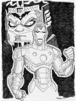 Sketch 068 of 100 IRON MAN by misfitcorner