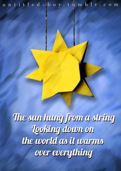 The sun hung from a string by efrainmarinho12