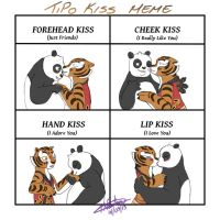Kiss Meme - KFP - Tigress + Po by zeaeevee