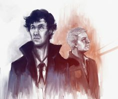 Sherlock and John by Elkiz